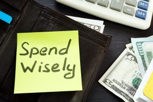 note saying spend wisely